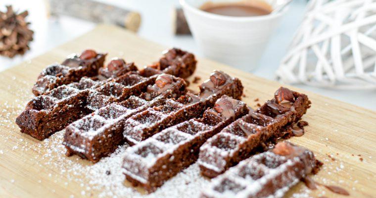 Le Brownie qui se prenait pour une gaufre (version finger et sa sauce au chocolat)