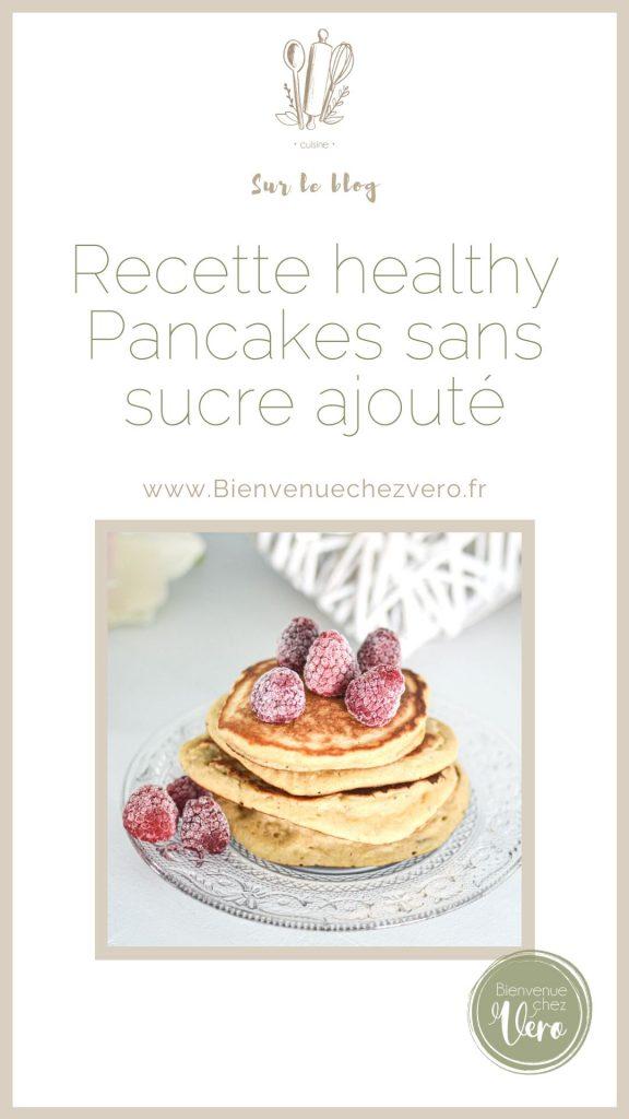 Fiche pinterest de pancakes healthy