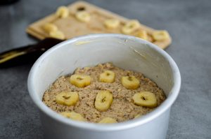 Banana bread avant cuisson