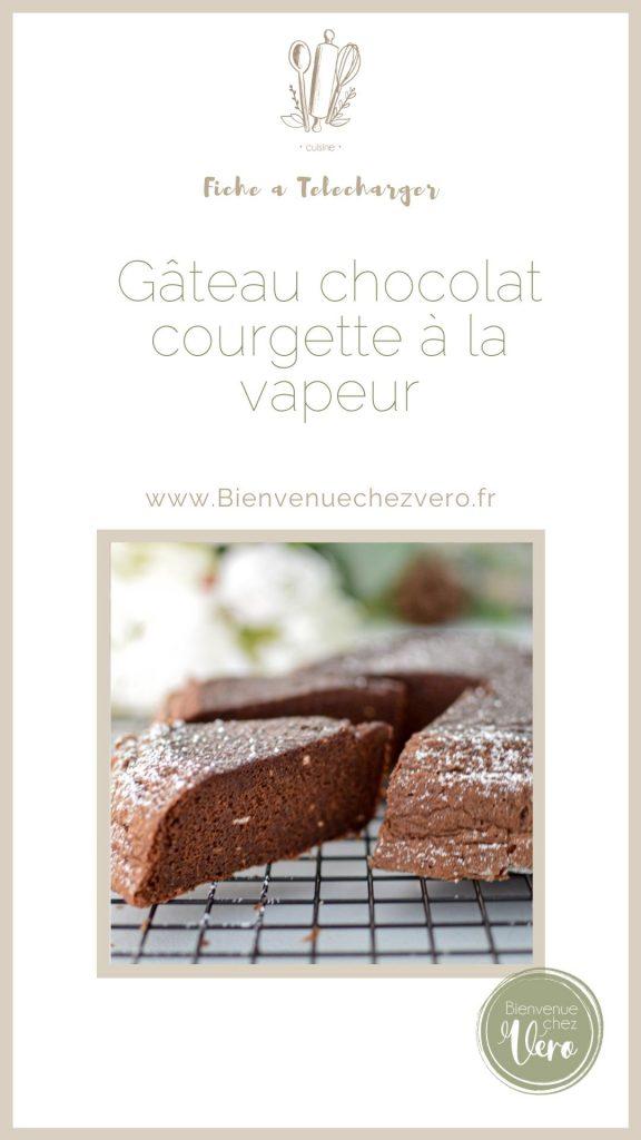 gateau au chocolat courgette à la vapeur douce