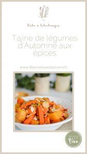 Tajine de légumes d'Automne aux épices - Pinterest