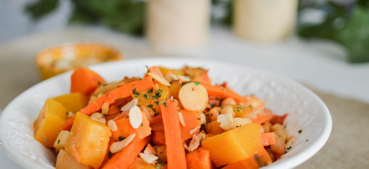 Tajine de légumes d'Automne aux épices