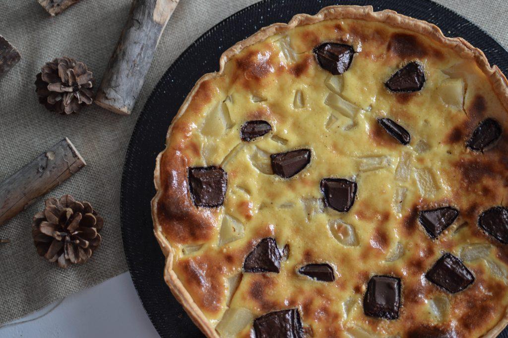 Tarte aux poires et au chocolat (1)
