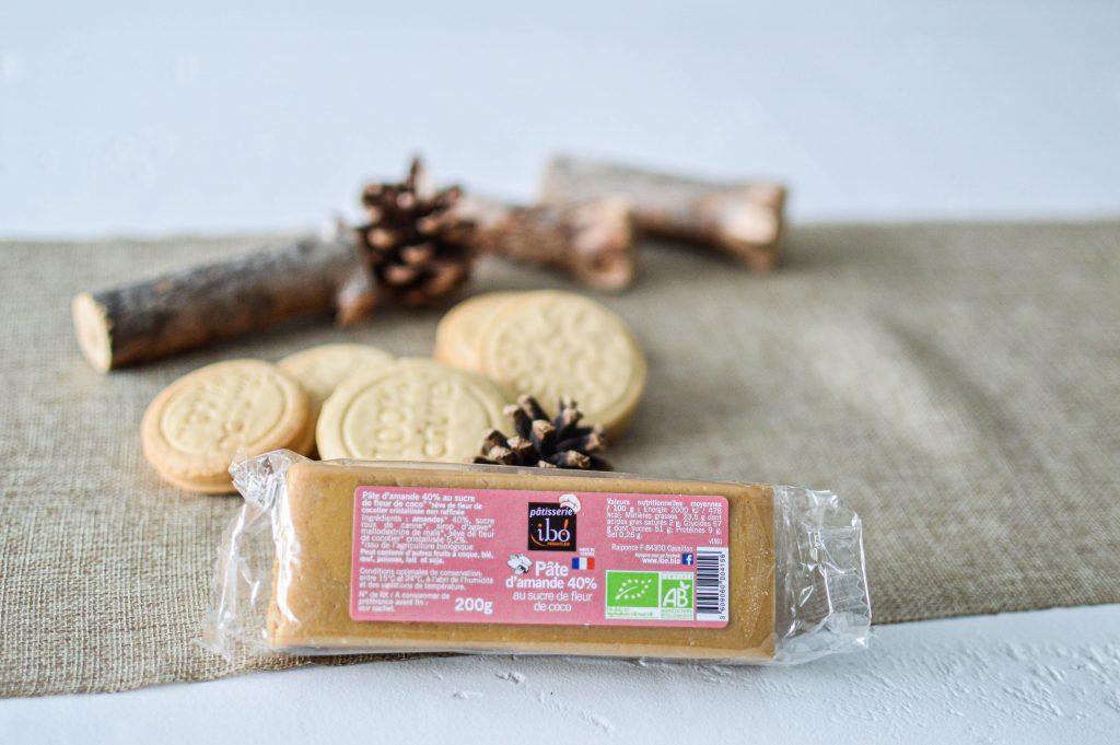 Présentation de la pâte d'amande au sucre de coco (2)