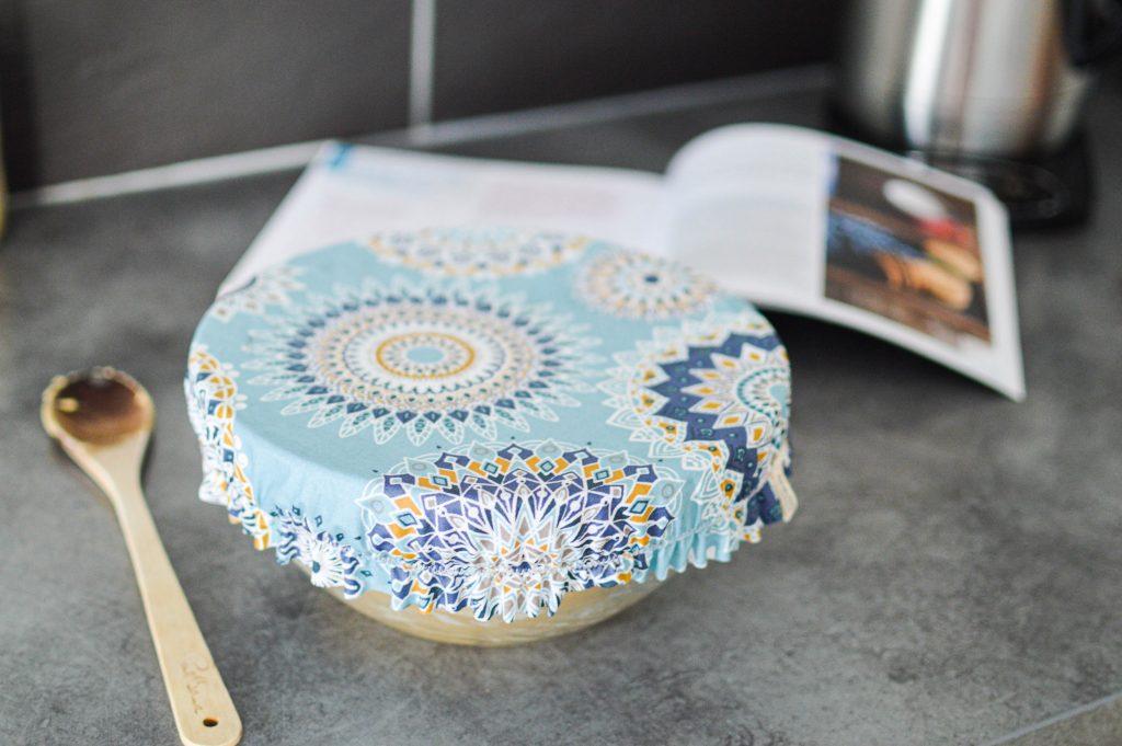 Saladier recouvert d'un couvre plat lavable Zoessentiels