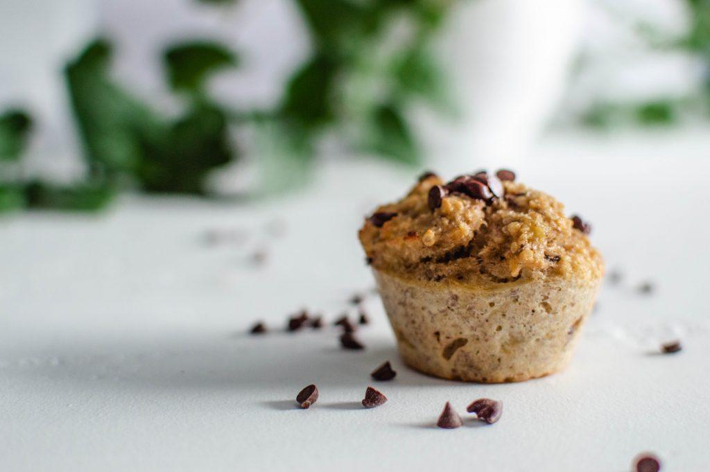 Muffins sains et facile à faire avec des bananes trop mures
