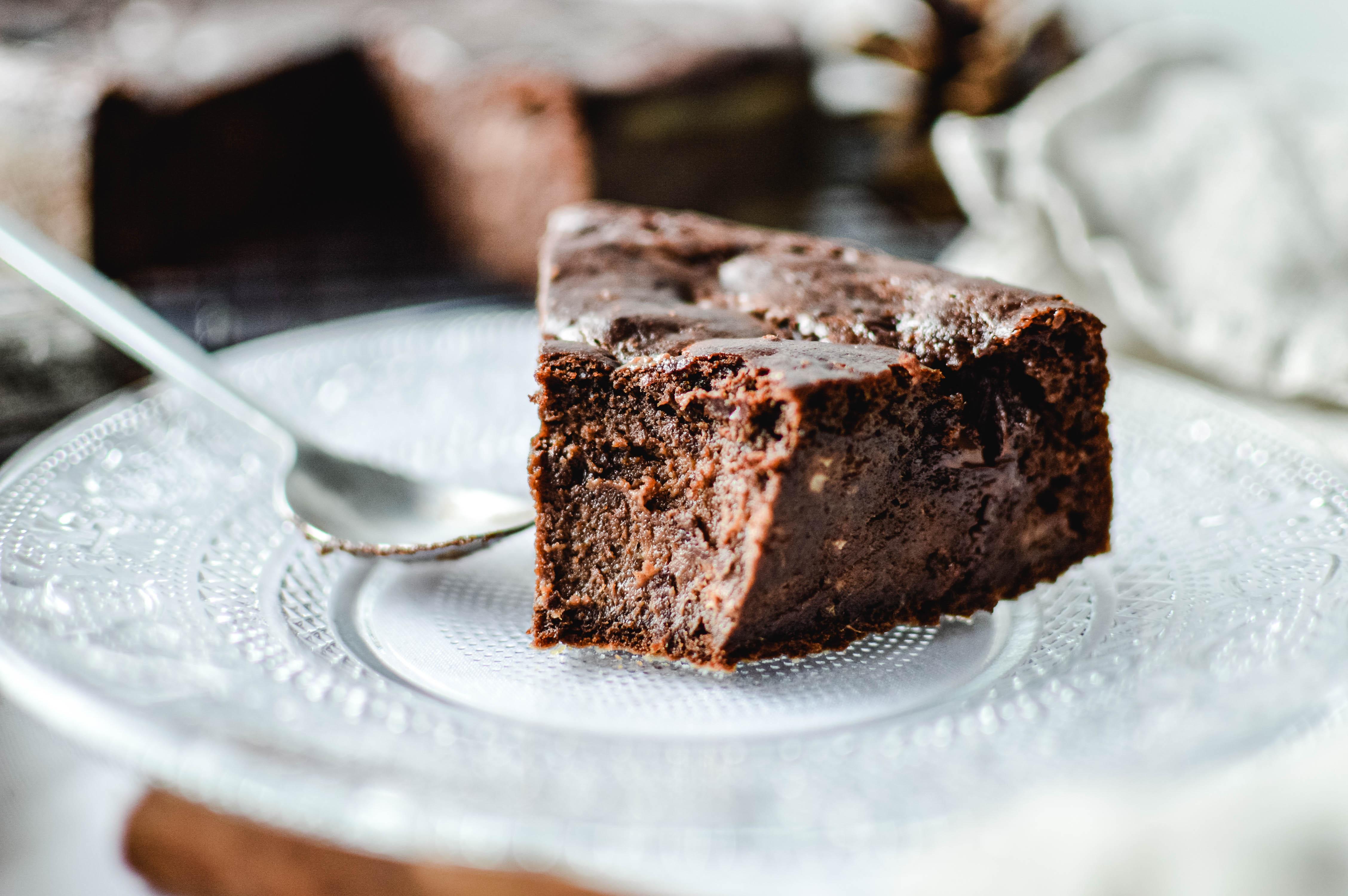 Moelleux chocolat banane noisette vegan sans gluten