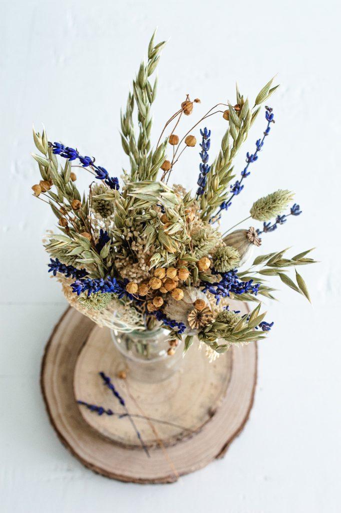 Bouquet final de fleurs séchées