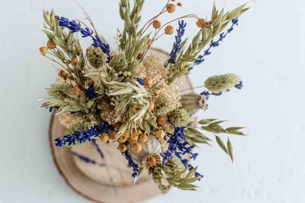 Bouquet de fleurs séchées éco-responsable et durable