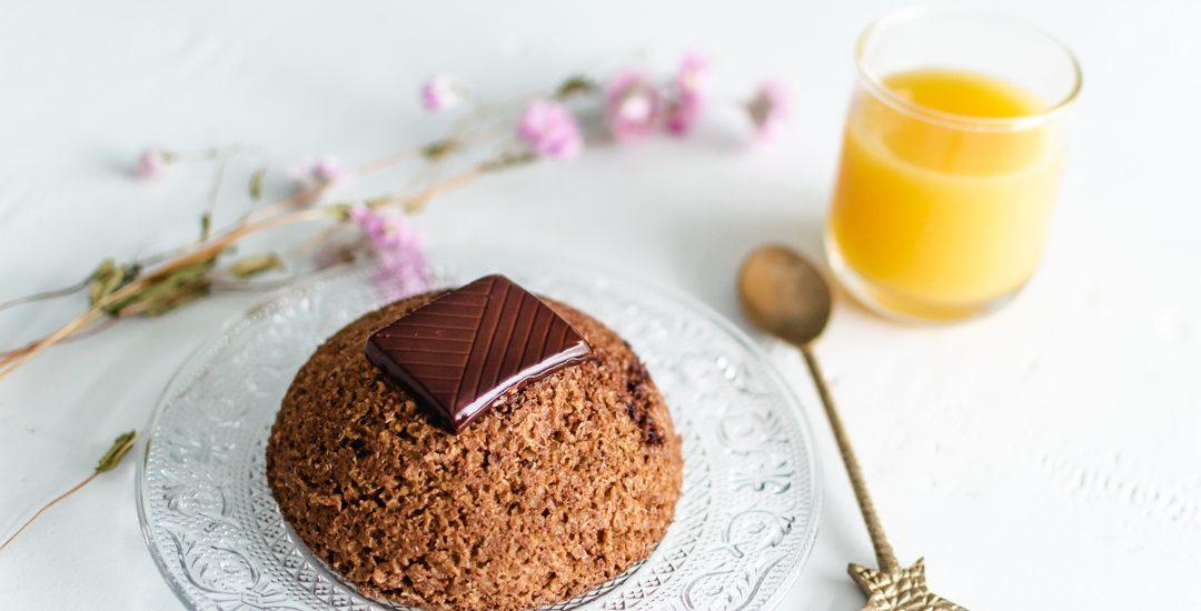Bowl cake chocolat orange pour un petit déjeuner rapide