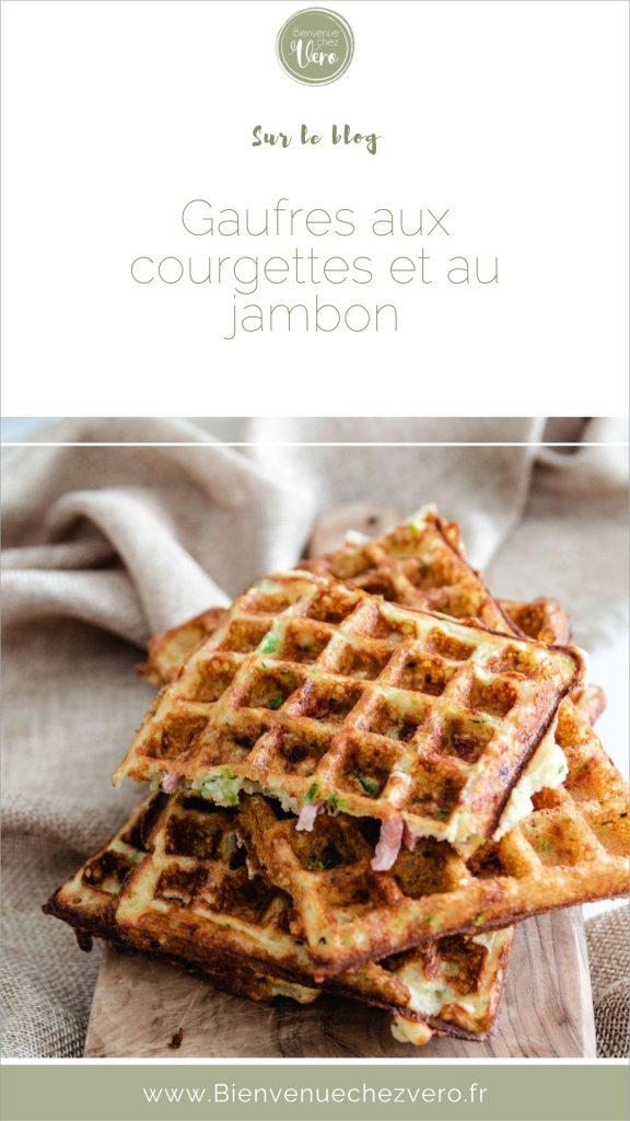 Gaufres aux courgettes gruyère et jambon (