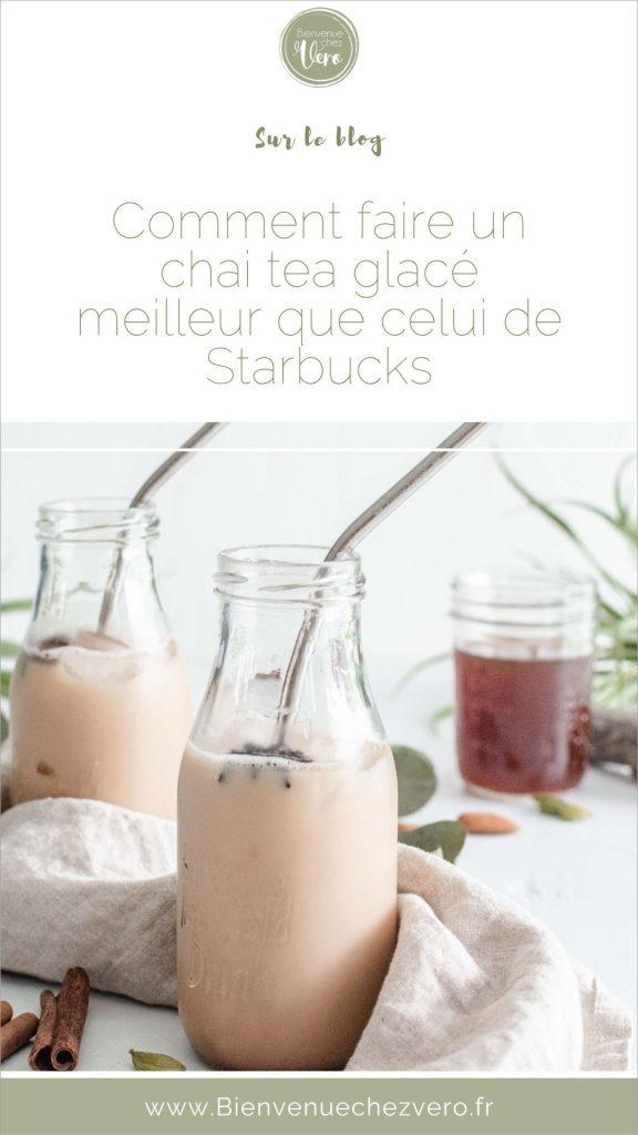 La recette du Chai tea latté glacé meilleur que Starbucks - Économisez de l'argent en faisant la recette maison - Livraison gratuite