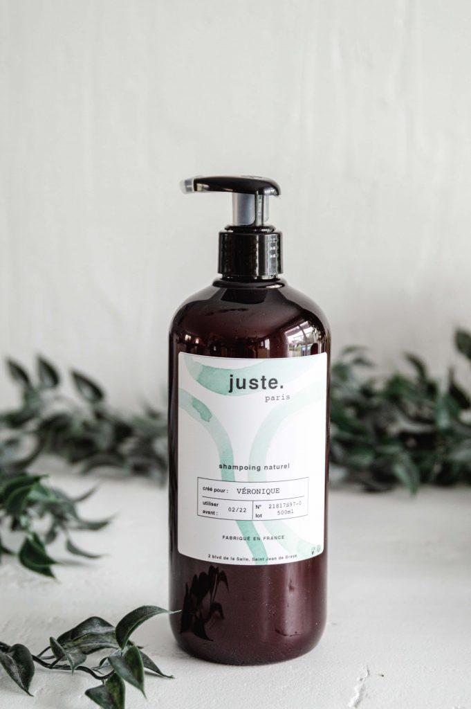 Juste, la marque de Shampoing naturel adapté à chaque type de cheveux